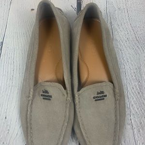 Coach Mary Lock Up Suede Loafers